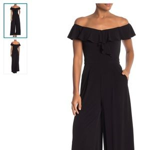 42c8bd9410a Eliza J Off-The-Shoulder Ruffle Jumpsuit